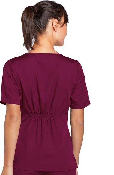 Women's Novelty V-Neck Solid Scrub Top, , large