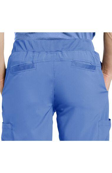 Men's V-Neck Solid Scrub Top & Mesh Waist Stretch Scrub Pant Set, , large