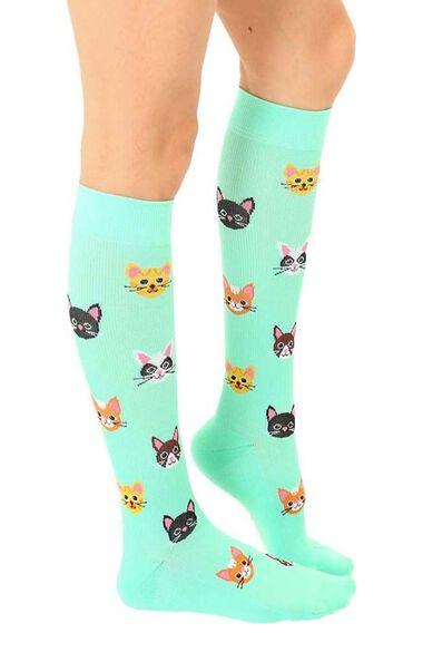 Unisex 15-20 Mmhg Lightweight Cat Print Compression Socks, , large