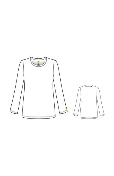 Women's Silky Long Sleeve Underscrub, , large