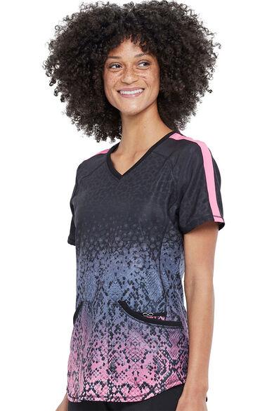 Women's Pretty In Python Print Scrub Top, , large