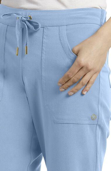 Women's Soft Drawstring Straight Leg Scrub Pant, , large