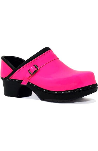 Women's Paparazzi Pink Patent Solid Clog, , large