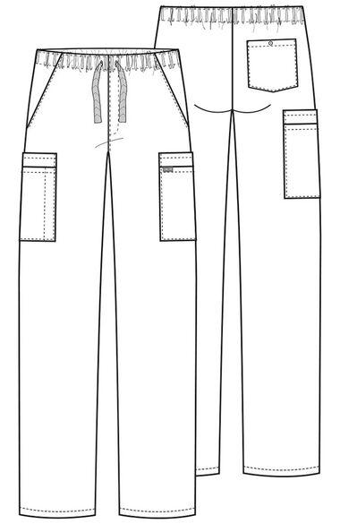 Men's Drawstring Cargo Scrub Pant, , large