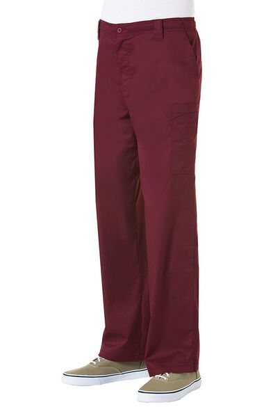 Clearance Men's Zip Front Cargo Scrub Pant, , large