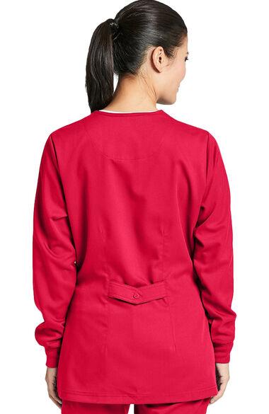 Grey's Anatomy Classic Women's Round Neck Warm Up Scrub Jacket, , large