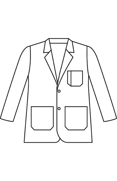 """Clearance Men's Two Button Closure Consultation 31¼"""" Lab Coat, , large"""