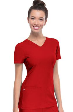Women's Pitter-Pat V-Neck Solid Scrub Top