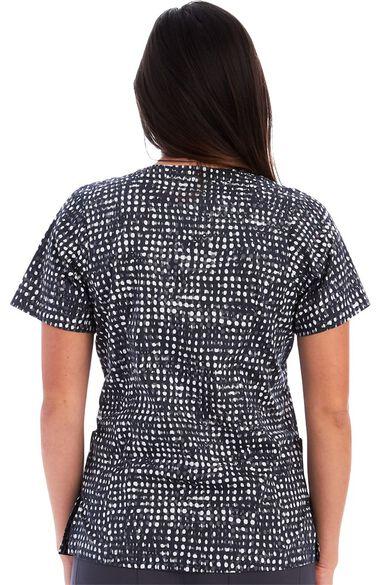 Women's Simple Dots Print Scrub Top, , large