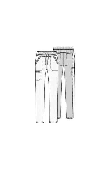Women's Drawstring Waistband Straight Leg Scrub Pant, , large