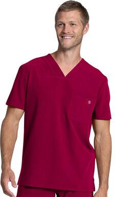 Men's Single Pocket Solid Scrub Top