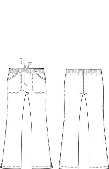 Women's Alexis Elastic Waist Scrub Pant, , large