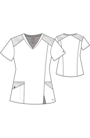 Women's Eclipse Solid Scrub Top, , large