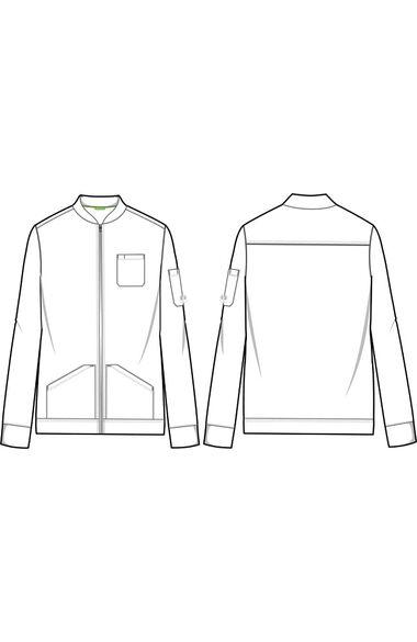 Men's Michael Zip Front Solid Scrub Jacket, , large