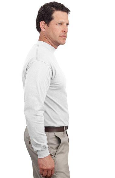 Unisex Long Sleeve Mock Turtleneck T-Shirt, , large
