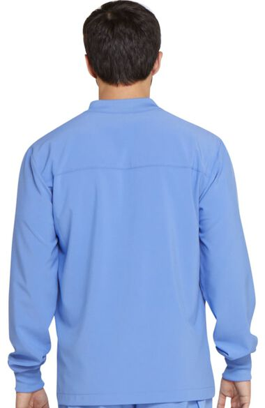 Clearance Men's Zip Front Warm-Up Solid Scrub Jacket, , large