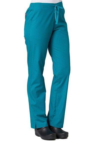 Women's Half Drawstring Straight Leg Scrub Pant, , large