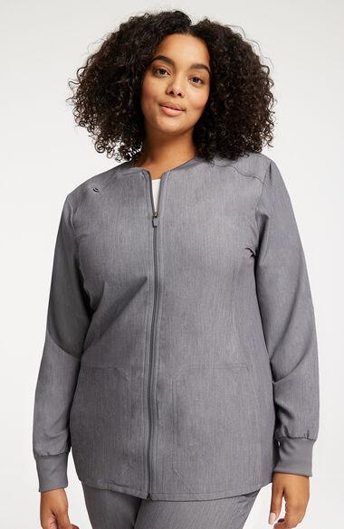 Women's Warm-Up Solid Scrub Jacket, , large