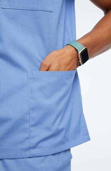 Unisex V-Neck 3 Pocket Solid Scrub Top, , large
