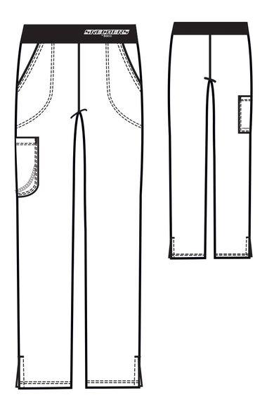 Women's Vitality Logo Elastic Waistband Scrub Pant, , large