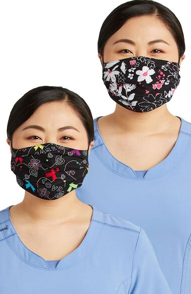 Clearance Women's Reversible Hopeful Hearts & Bloom-tanical Print Face Mask, , large