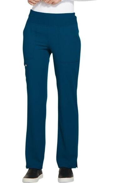 Women's Elastic Waistband Straight Leg Scrub Pant, , large