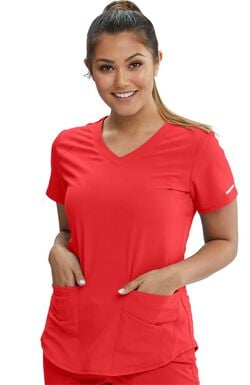 Women's Vitality V-Neck Solid Scrub Top