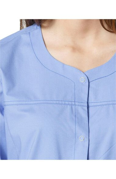Clearance Women's Constance Snap Front Solid Scrub Jacket, , large