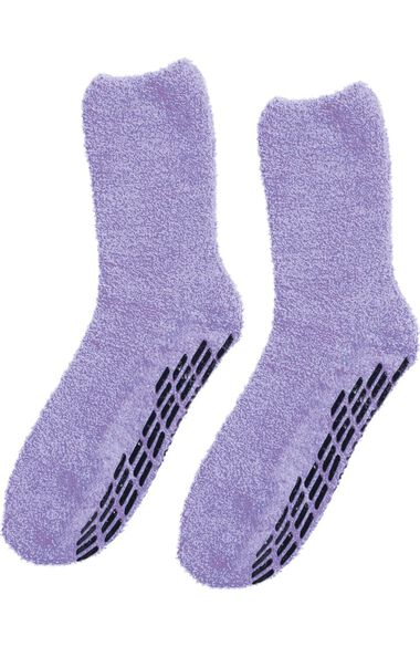 Silvert's Unisex Fuzzy Non-Skid Solid Sock, , large