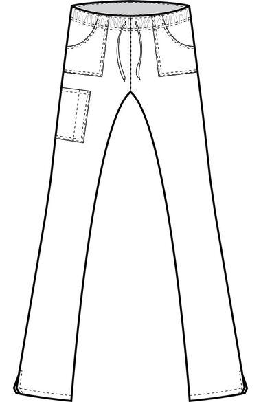 Women's Full Elastic Cargo Scrub Pant, , large
