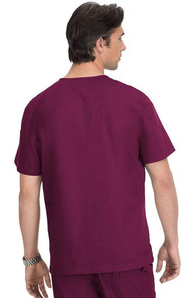 Men's Jason V-Neck Solid Scrub Top & James Zip Fly Scrub Pant Set, , large
