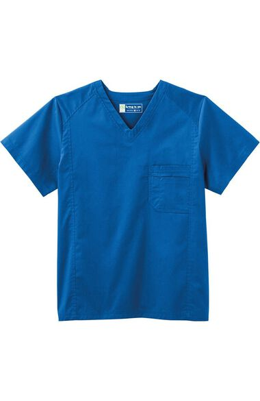 Clearance Men's V-Neck Solid Scrub Top, , large