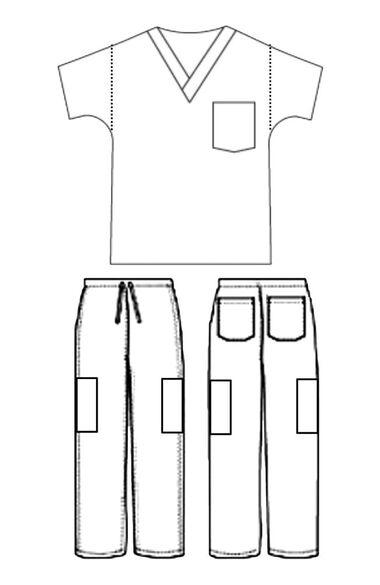 Unisex Solid Scrub Set, , large