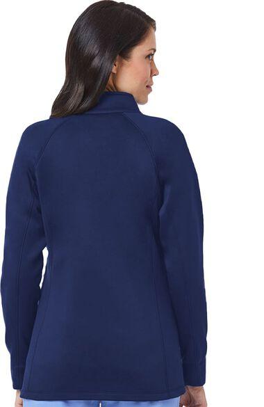 Women's Raglan Sleeve Fleece Solid Scrub Jacket, , large