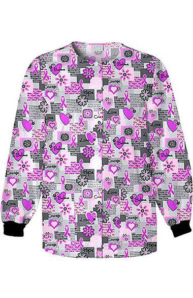 Women's Crew Neck Words of Love Print Jacket, , large