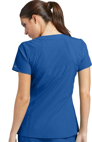 Women's V-Neck Solid Scrub Top & Boost Jogger Scrub Pant, , large