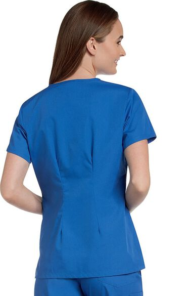 Clearance Women's Crossover Solid Scrub Top, , large