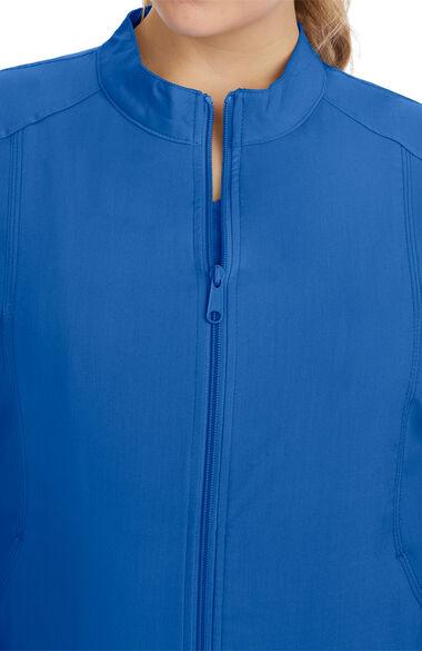 Women's Dakota Zip Front Scrub Jacket, , large