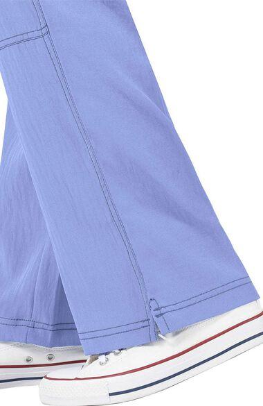 Women's Drawstring Elastic Waist Sporty Cargo Scrub Pant, , large
