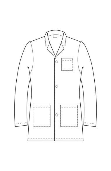 "Unisex Three Button 31½"" Lab Coat, , large"