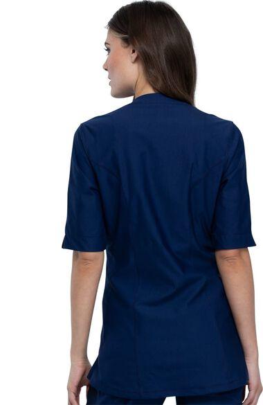 Women's Asymmetrical Tunic Solid Scrub Top, , large