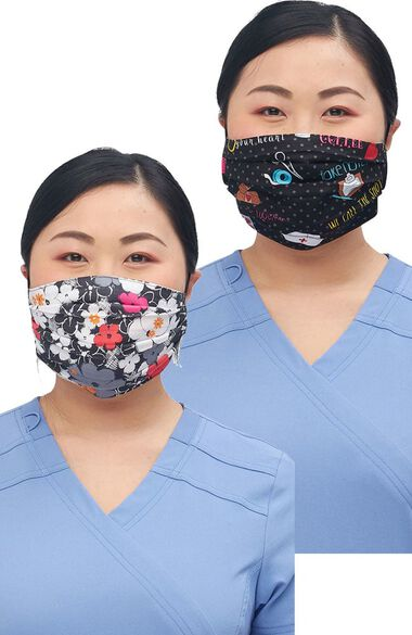 Clearance FINAL SALE Women's Reversible Sweet Flow Stick Together Print Face Mask, , large