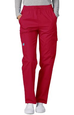 Women's Multi Pocket Solid Scrub Pants