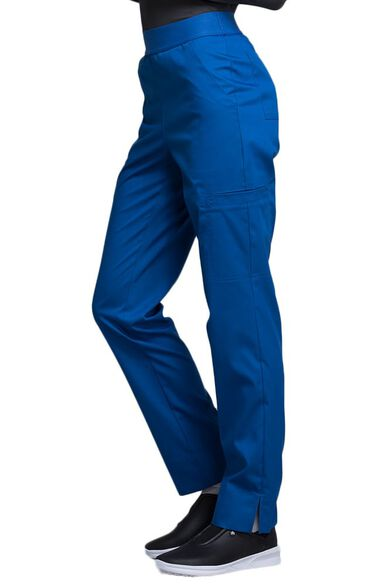 Women's Tapered Leg Elastic Waistband Scrub Pant, , large