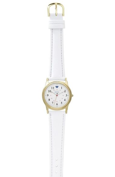 Military Dial with Blue Heart Watch, , large