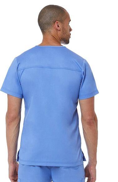Men's Basic V-Neck Solid Scrub Top, , large