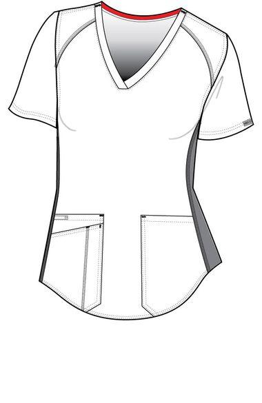 Women's Kerri V-Neck Shirttail Solid Scrub Top, , large