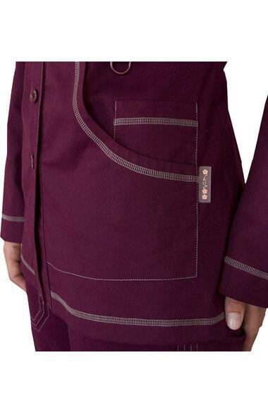 Women's Olivia Round Neck Solid Scrub Jacket, , large