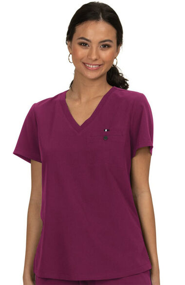 Women's Ready To Work Solid Scrub Top, , large
