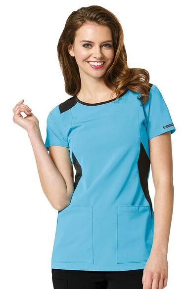 Clearance High Performance by Women's Neo Boatneck Solid Scrub Top, , large